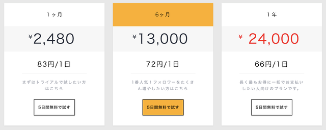 #Strike(ハッシュストライク)の料金