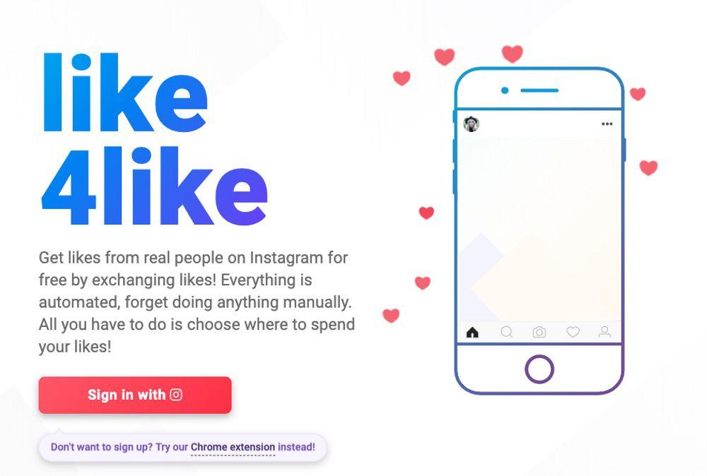 1.無料アプリ「Likes4Like」を利用